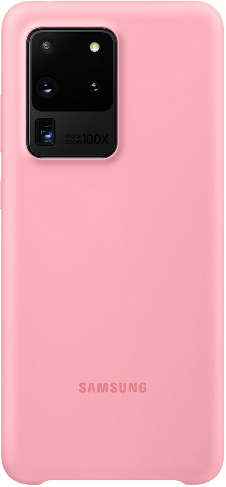 Чехол Silicone Cover Galaxy S20 Ultra розовый фото