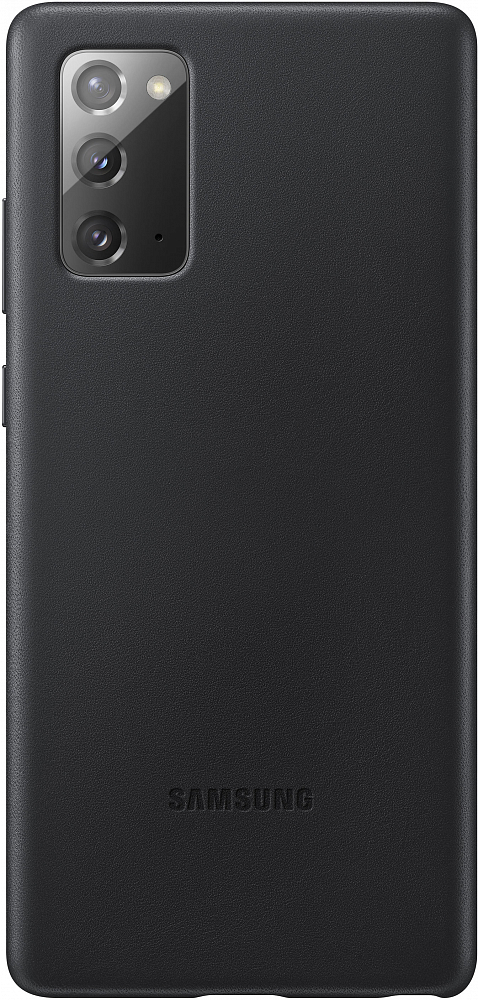 Чехол Leather Cover для Galaxy Note20 черный фото